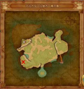 デルカダール地方南の島マト地図