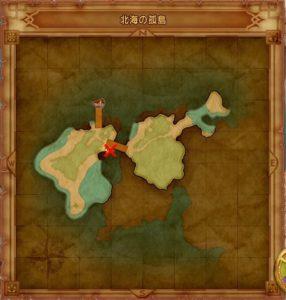 北海の孤島のマト地図