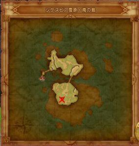 シケスビア雪原 南の島マト地図