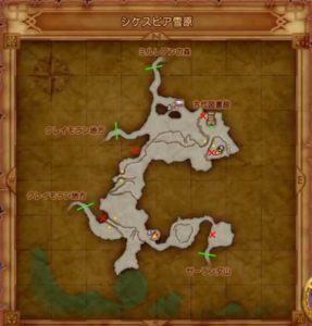 シケスピアのマト地図