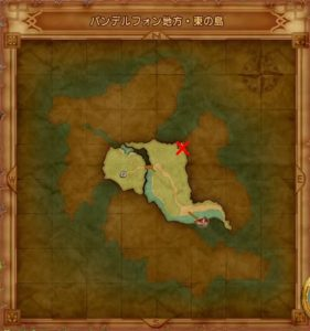 バンデルフォン地方 東の島のマト地図