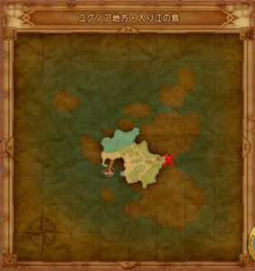 ユグノア地方入江の島のマト地図